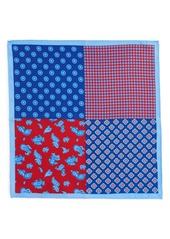 Nordstrom Men's Shop 'Foulard' Multi Pattern Silk Pocket Square