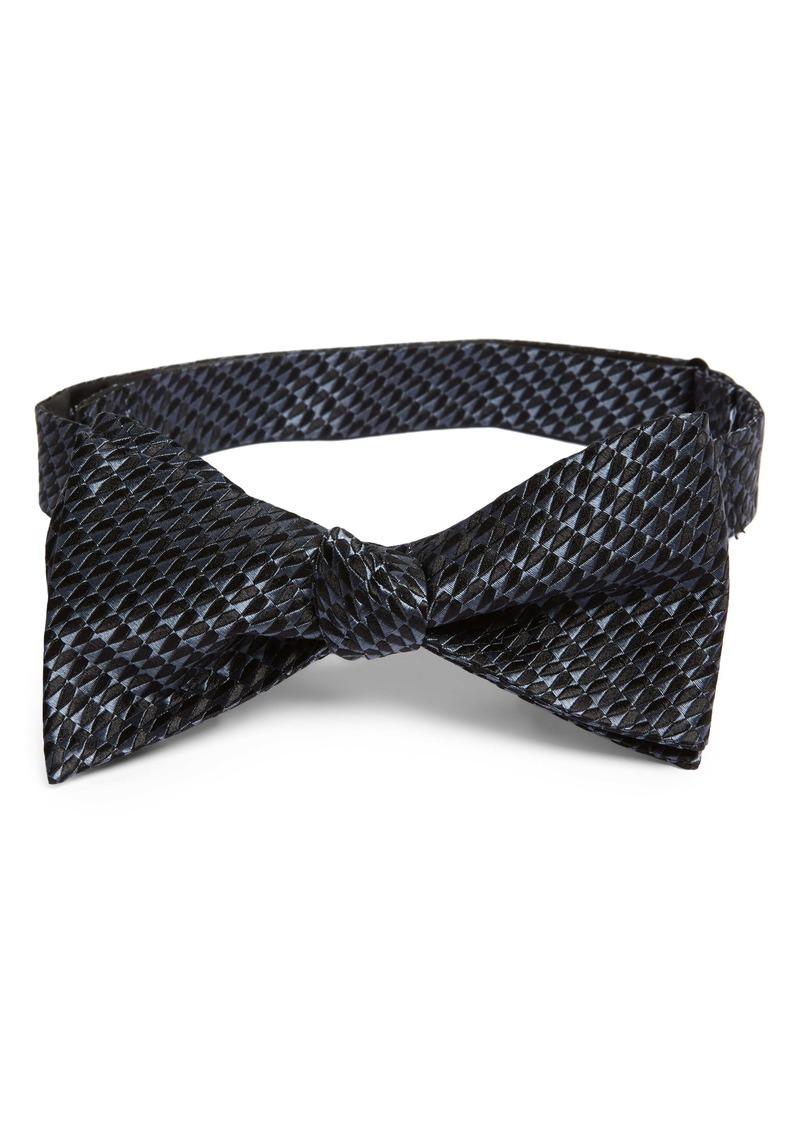Nordstrom Men's Shop Garnet Textured Silk Bow Tie
