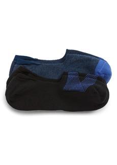 Nordstrom Men's Shop Geo Lines 2-Pack Liner Socks (3 for $30)