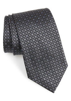 Nordstrom Men's Shop Geometric Silk X-Long Tie