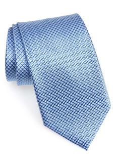Nordstrom Micro Grid Silk X-Long Tie
