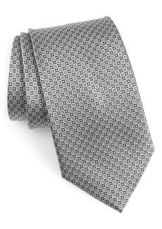 Nordstrom Men's Shop Grid Silk X-Long Tie
