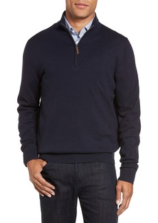 Nordstrom Men's Shop Half Zip Cotton & Cashmere Pullover (Regular & Tall)