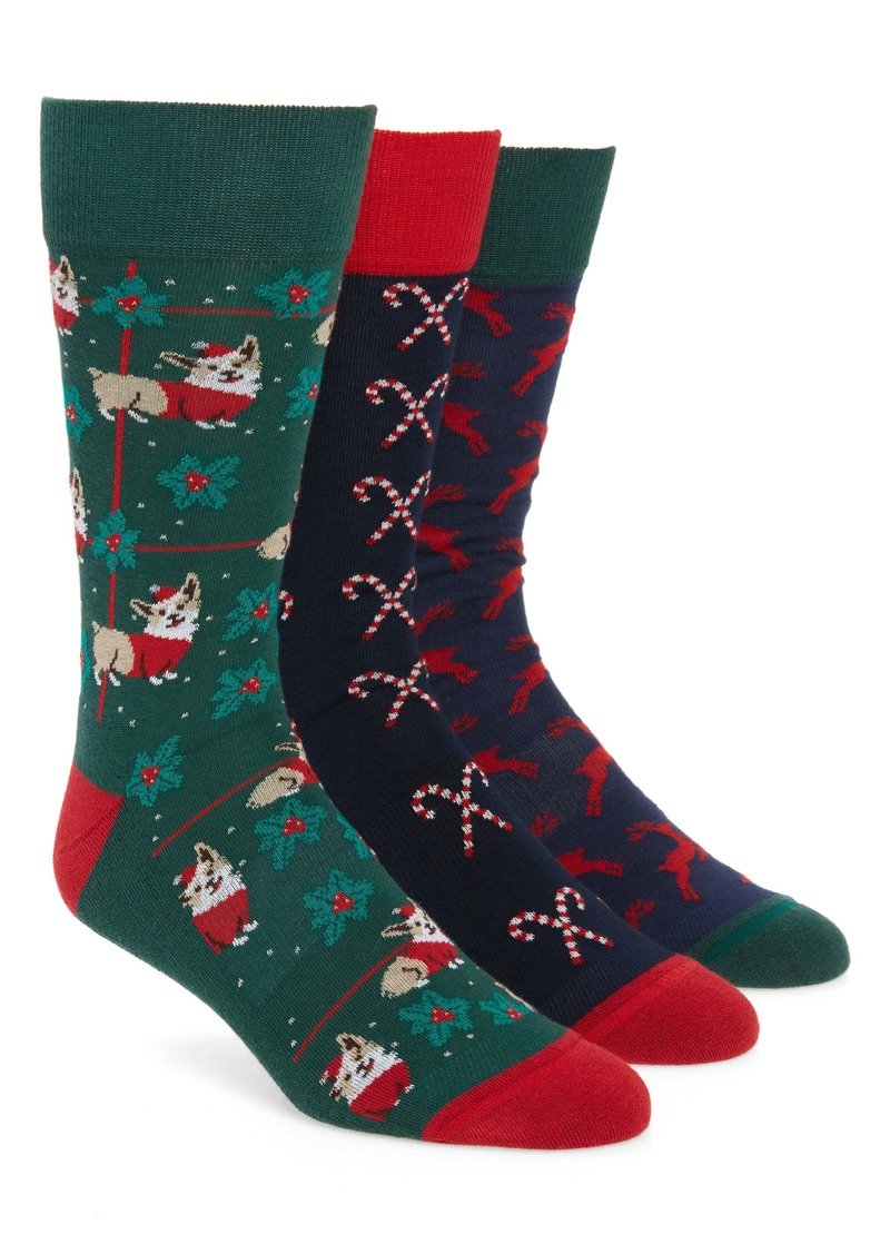 Nordstrom Men's Shop Holiday 3-Pack Socks