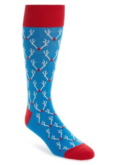 Nordstrom Men's Shop Holiday Antlers Socks