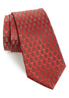Nordstrom Men's Shop Holiday Trees Silk Tie