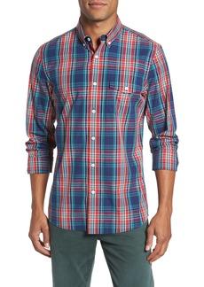 Nordstrom Men's Shop Ivy Trim Fit Plaid Sport Shirt