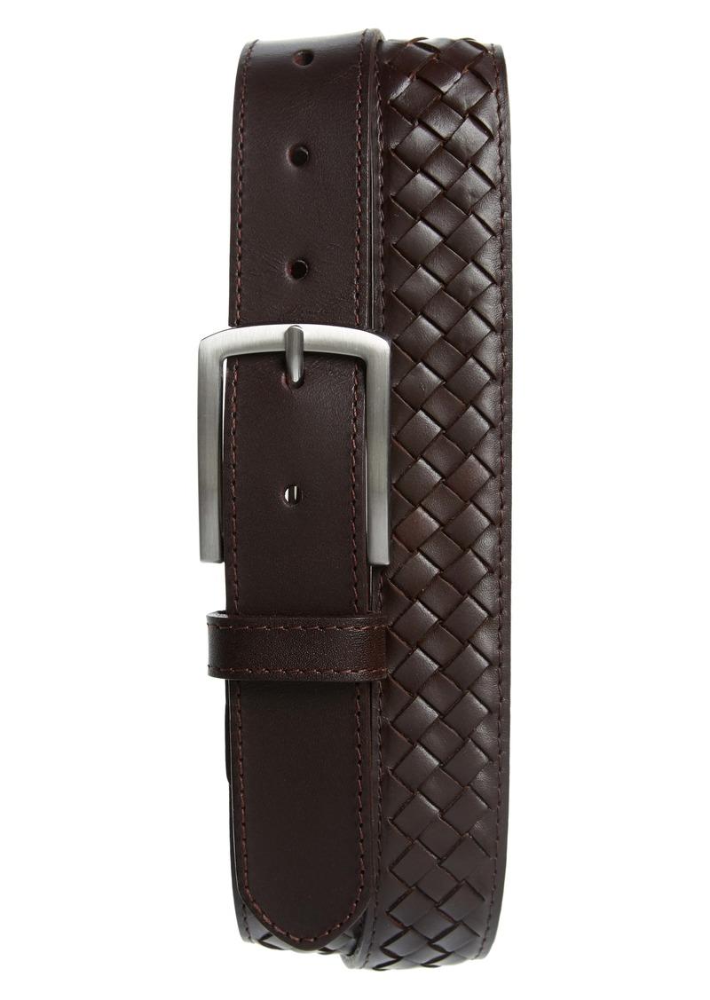 Nordstrom Men's Shop Lander Woven Leather Belt