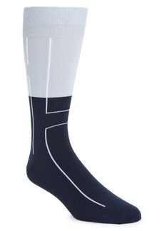 Nordstrom CoolMax® Linear Colorblock Tall Dress Socks (Buy More & Save)