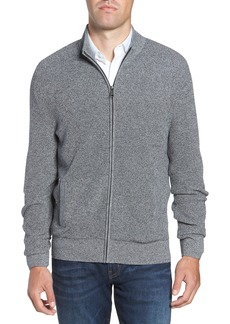 Nordstrom Men's Shop Marled Mock Neck Zip Sweater