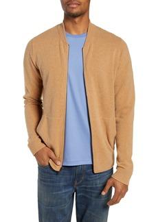 Nordstrom Men's Shop Merino Wool Blend Bomber Sweater