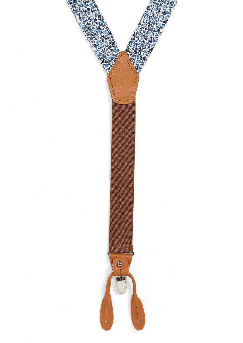 Nordstrom Men's Shop Micro Floral Print Suspenders