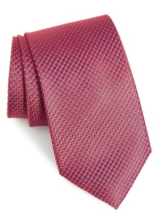 Nordstrom Men's Shop Milton Check Silk X-Long Tie