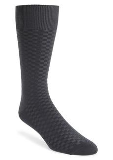 Nordstrom Men's Shop Mini Check Ultrasoft Socks