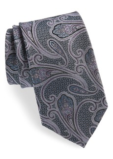Nordstrom Men's Shop Paisley Silk X-Long Tie