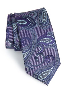 Nordstrom Men's Shop Palisades Paisley Silk Tie (X-Long)