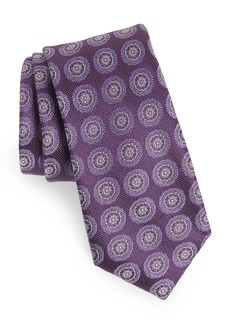 Nordstrom Men's Shop Pinpoint Medallion Silk Tie
