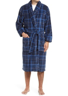 Nordstrom Plaid Fleece Robe