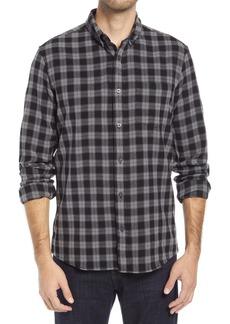 Nordstrom Men's Shop Plaid Stretch Flannel Button-Down Shirt