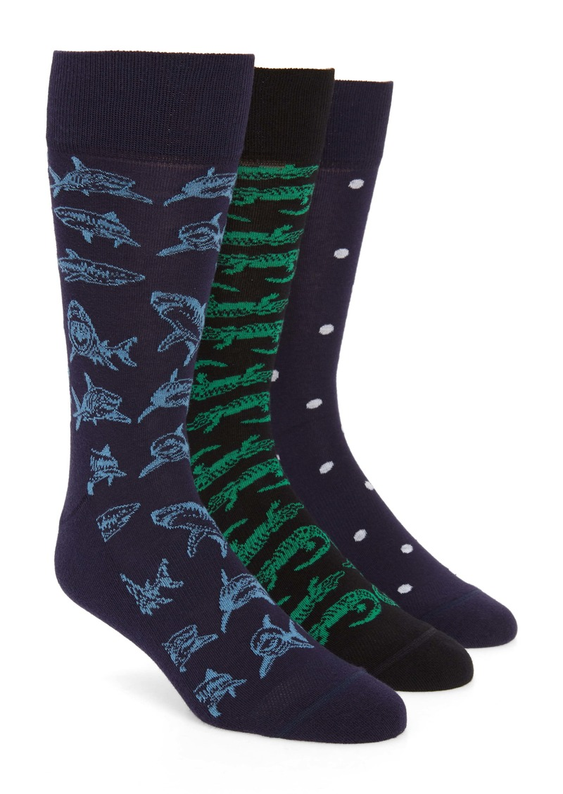 Nordstrom Men's Shop Predator Attack 3-Pack Socks