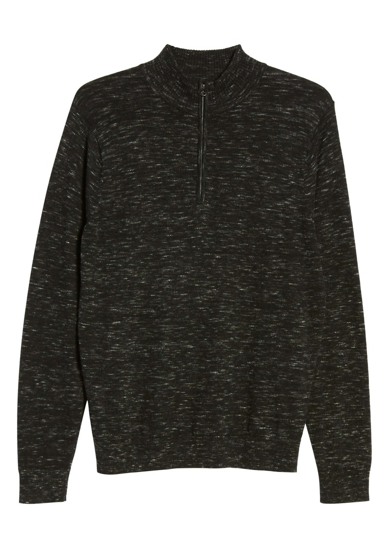 Nordstrom Men's Shop Quarter Zip Cotton & Cashmere Pullover