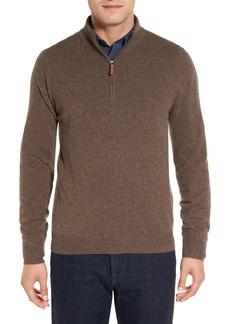 Nordstrom Men's Shop Regular Fit Cashmere Quarter Zip Pullover (Regular & Tall)