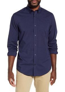 Nordstrom Men's Shop Regular Fit Dobby Gingham Button-Down Shirt