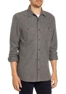 Nordstrom Men's Shop Regular Fit Herringbone Button-Up Shirt