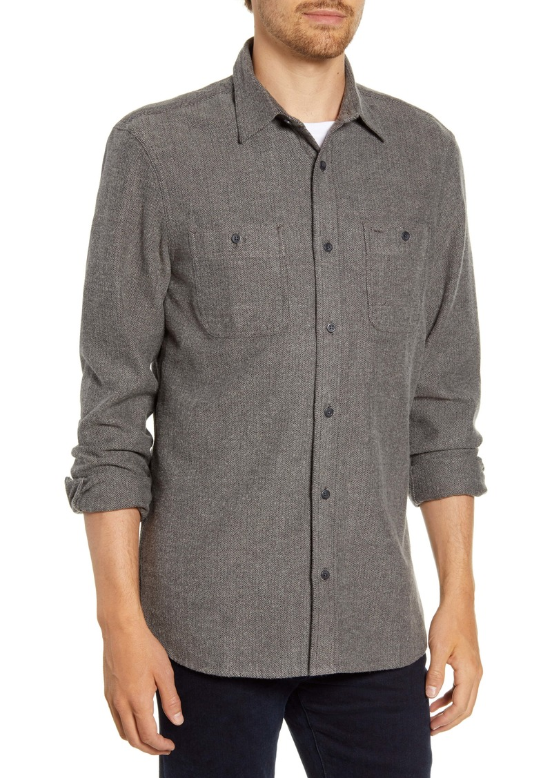 Nordstrom Men's Shop Regular Fit Herringbone Button-Up Shirt