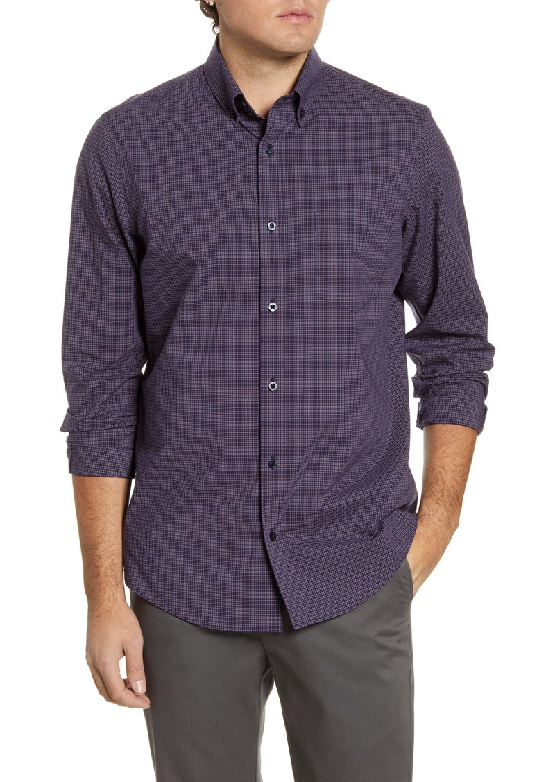 Nordstrom Men's Shop Regular Fit Minicheck Button-Down Performance Shirt