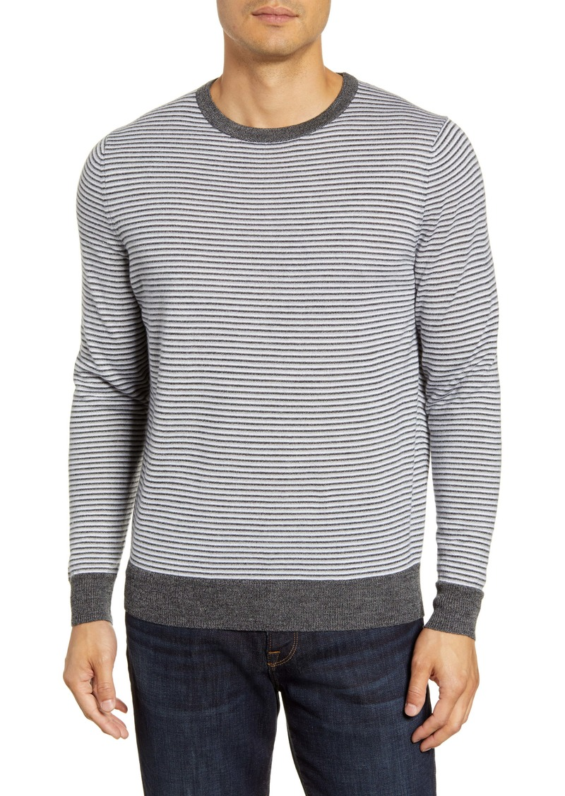 Nordstrom Men's Shop Regular Fit Stripe Merino Wool Blend Sweater