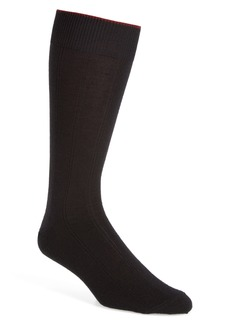 Nordstrom Men's Shop Rib Wool Blend Socks