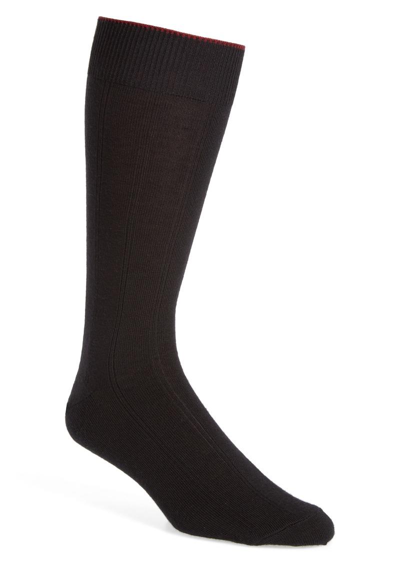 Nordstrom Men's Shop Rib Wool Blend Dress Socks (3 for $30)