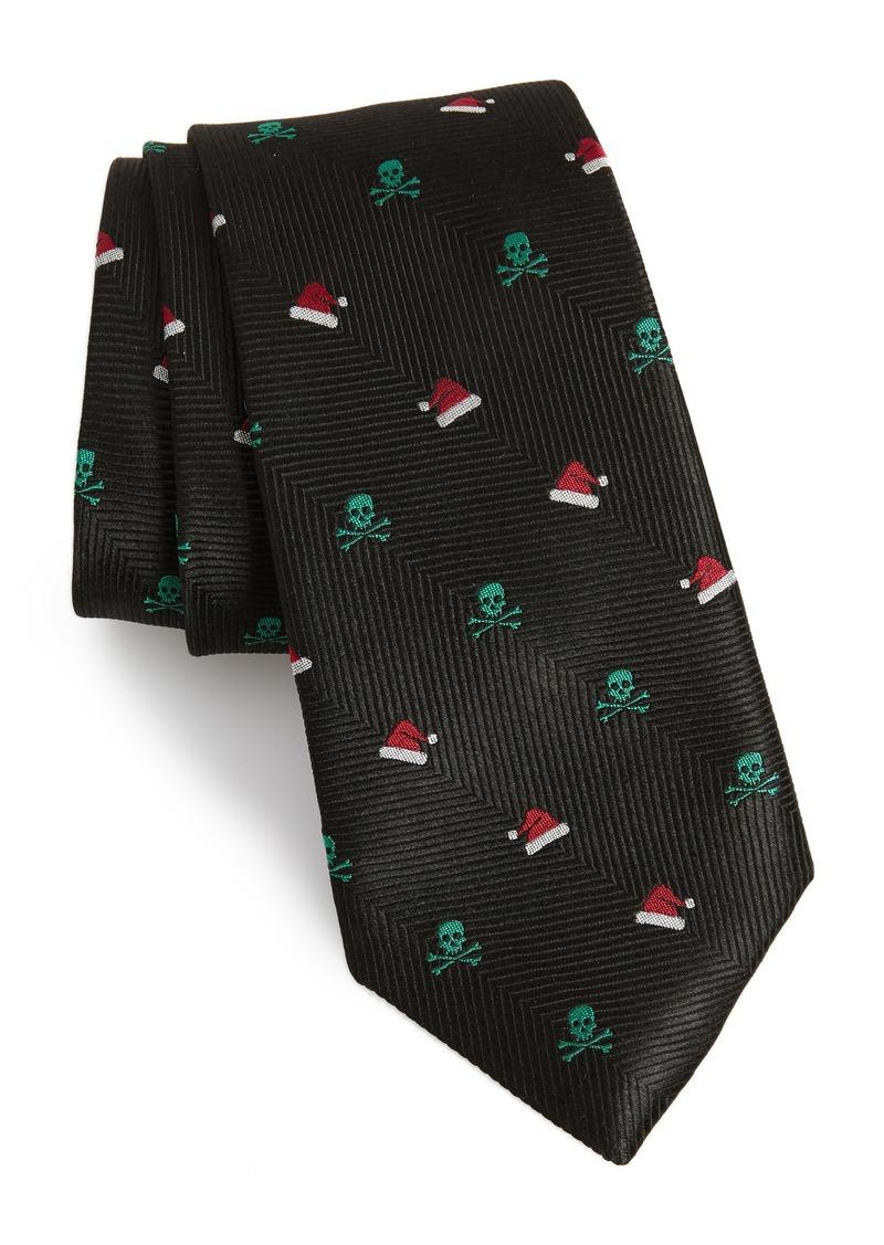 Nordstrom Men's Shop Santa's Skull Silk Tie