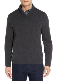 Nordstrom Men's Shop Shawl Collar Cashmere Pullover (Regular & Tall)