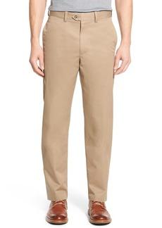 Nordstrom Men's Shop Smartcare™ Classic Supima® Cotton Flat Front Straight Leg Dress Pants