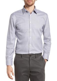 Nordstrom Men's Shop Smartcare™ Extra Trim Fit Plaid Dress Shirt