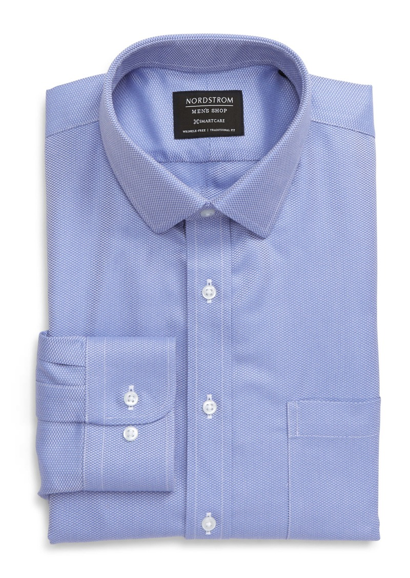 Nordstrom Men's Shop Smartcare Traditional Fit Chevron Dress Shirt