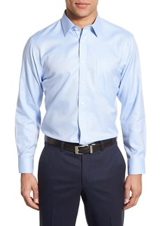 Nordstrom Mens Shop Smartcare™ Trim Fit Herringbone Dress Shirt