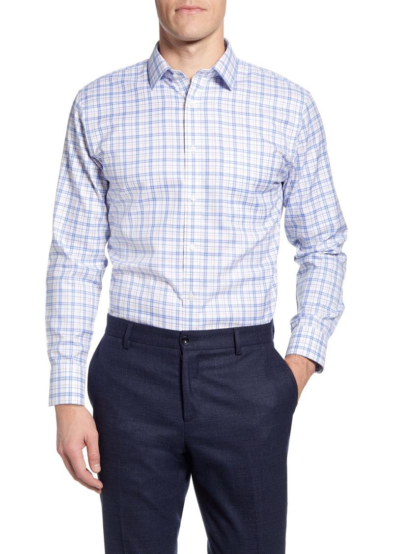 Nordstrom Men's Shop Smartcare Trim Fit Plaid Dress Shirt