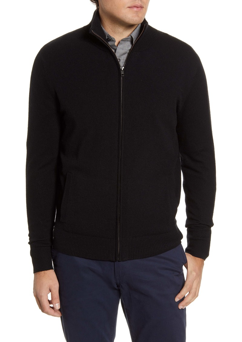 Nordstrom Men's Shop Stand Collar Zip Front Cardigan