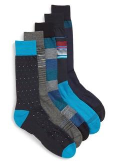 Nordstrom Men's Shop Stripe & Points Assorted 5-Pack Socks