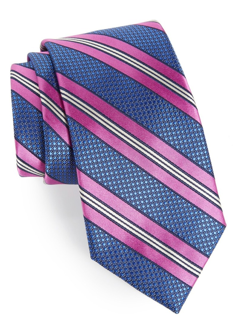 Nordstrom Men's Shop Stripe Silk & Cotton Tie