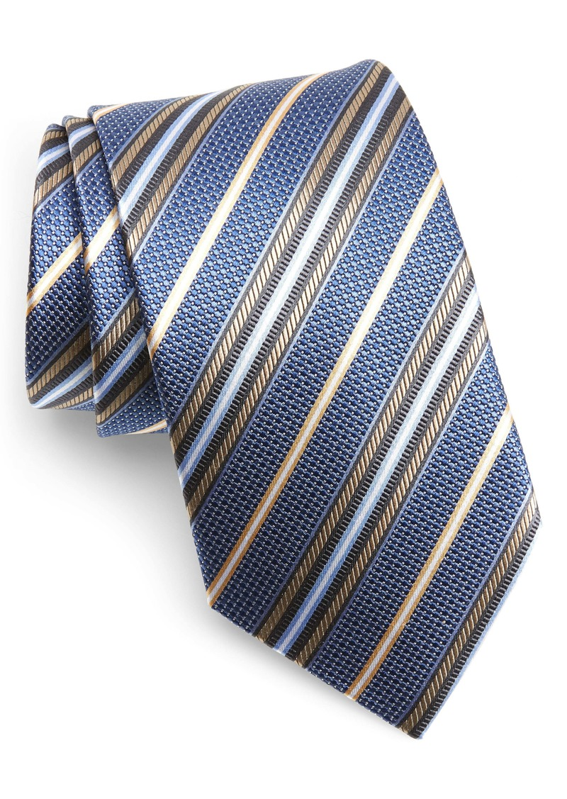 Nordstrom Men's Shop Stripe Silk X-Long Tie