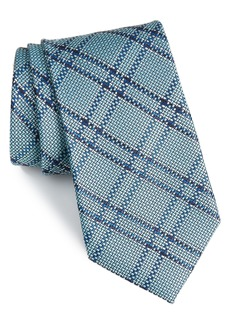 Nordstrom Men's Shop Tasker Plaid Silk & Cotton Tie