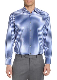 Nordstrom Men's Shop Tech-Smart Classic Fit Stretch Check Dress Shirt