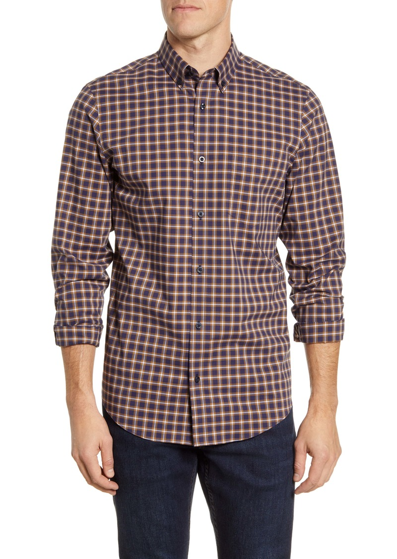 Nordstrom Men's Shop Tech-Smart Regular Fit Check Button-Down Shirt