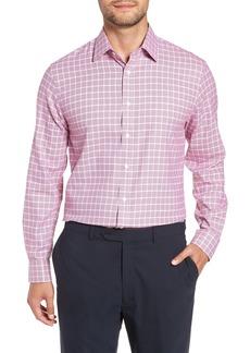 Nordstrom Men's Shop Tech-Smart Traditional Fit Plaid Dress Shirt