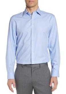 Nordstrom Tech-Smart Traditional Fit Stretch Herringbone Dress Shirt