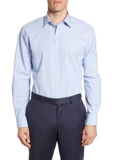 Nordstrom Men's Shop Tech Smart Traditional Fit Stretch Plaid Dress Shirt